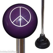 Custom Chrome Handle Plunger w/ Purple Peace Sign Shift Knob Top