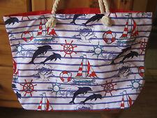 XXL Tasche ♥ große Strandtasche ♥ Sporttasche Badetasche Shopper Delfin