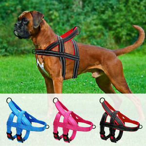 No Pull Strong Dog Harness Large Dogs Training Front Walk Vest Clip Reflective