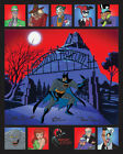 Bruce Timm, Dini, Burnett SIGNED Arkham Warners Limited Ed Animation cell of 100