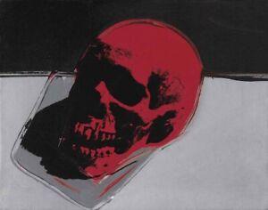 Andy Warhol Skull #5 Canvas Print 16 x 20     #3955