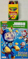PAW PATROL Doggie Divers Coloring Activity Book Crayola Crayons Gift Wrapped-NEW