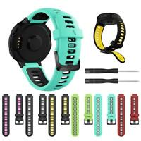 Dual Color Silicone Watch Strap Band For Garmin Forerunner 735XT 220 230 235 620