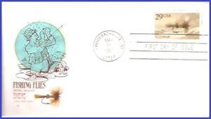 USA5 #2545 U/A HOUSE OF FARNAM FDC   Fishing Flies Royal Wulff