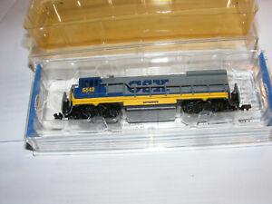 BOXED N Scale CSX DUAL TRUCK U36B POWERED DIESEL  File 1441