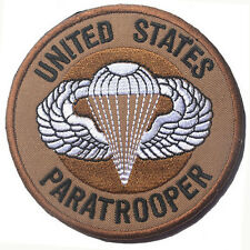 United States Paratrooper U.S. ARMY USA TACTICAL MILITARIA EMBROIDERED PATCH #3