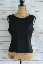Vintage Espirit de Corp - Black stretch sleeveless tank, size L