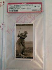 1927 Churchman Famous Golfers - small: james braid #6(# 2 0F 2 PSA Grade 6