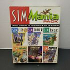 Sim Mania Pack Computer Video Game Cd-rom 6 Complete Games From Maxis