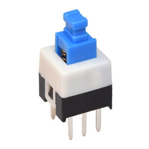 Mini Push Button Switch Self-Locking or Momentary 7x7mm 6-Pin DPDT Micro