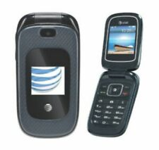 ZTE Z222 AT&T Only! GoPhone 3G Cellular Flip Phone -Blue -Postpaid or Prepaid