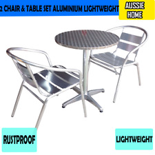 2 Chair And Table Set Has Arrived Aluminium Lightweight Outdoor Restaurant Proof