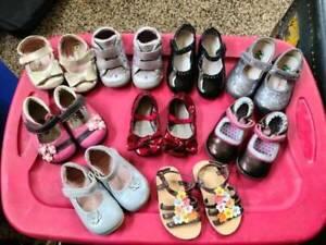 9 Pair Toddler Girl Shoes Sz 4 to 5 See Kai Run Nordstrom Gymboree