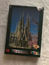 "Vintage Diset Jigsaw Puzzle Sagrada Familia Barcelona Spain 28"" x 20"" 1000 New"