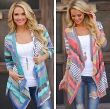 Women Long Sleeve Irregular Cardigan Jumper Top Casual Loose Knitted Coat Jacket