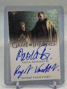 2020 Game Of Thrones Complete Series Paola Dionisotti Vansittart Dual Auto!