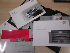 2004-2009 AUDI A4  OWNERS HANDBOOK MANUAL + AUDIO +WALLET ,,
