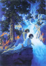 Maxfield Parrish Women by Waterfall  11 x 15