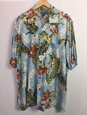 a677acf37 Lands End Mens Hawaiian Shirt Sz L 16-16 1/2 Short Sleeve Lei