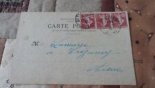 Carte lettre Semeuse 15c YT 189 - De Condé en Brie à Crézancy - 1929