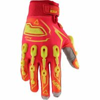 Leatt GPX 5.5 Lite Motocross Offroad Gloves Red Yellow Medium