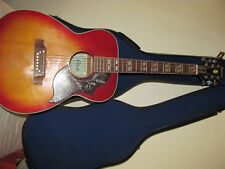 Estrada Acoustic Vintage FS 7 Guitar with Hummingbird pic guard and case