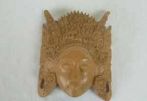 BALI READY TO HANG    WOODEN WALL MASK  13 H 11 CM W