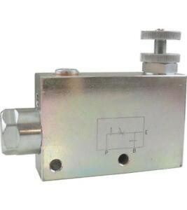 Hydraulikventil, 3-Wege Stromregelventil, Mengenregler, Rohrleitungsbauweise, ..