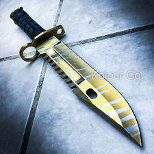 "13"" CS GO Tactical Fixed Blade Hunting Knife Bayonet Bowie TIGER TOOTH Survival"