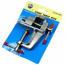 """3.5"""" Miniature Alumin Vise Small Jewelers Hobby Clamp On Table Bench Tool Vice"""