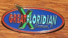 """""""Great Floridian Clermont Florida"""" 1"""" Inch Oval Shaped Collectible Pin / Brooch"""