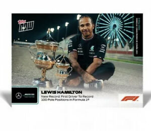 Lewis Hamilton New Record: First Driver To Record 100 Poles F1 TOPPS NOW  #8