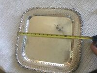 VINTAGE WEBSTER AND WILCOX 15 5/8in SQUARE INTERNATIONAL SILVERPLATE PLATTER