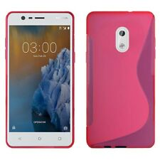 Nokia 3 S-line Silicone GEL Cover Case in Various Colours From Gadget Boxx Pink