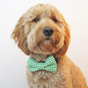 Green Houndstooth Bow Tie for Dogs (UOH) - FREE SHIPPING