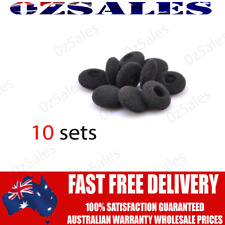 10 Sets 16mm Replacement Ear Pad Bud Soft Foam Earbud Cover For Earphones Black