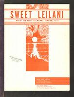 Sweet Leilani 1963 Hawaii Vintage Sheet Music