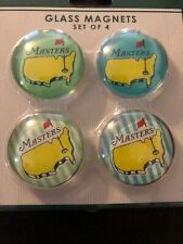 THE MASTERS Golf Tournament  Augusta National Glass Magnet set of 4 Clubhouse