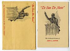 "1930's ""De Sun Do Move"" Sermon of John J. Jasper w/ Original Envelope Very Rare!"