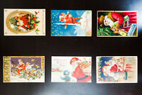 US Early Santa Claus Holiday Full Color Picture Postcards