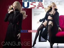 "1/6 Trench Coat Lingeries Stockings Set For 12"" PHICEN TBLeague Female Figure"