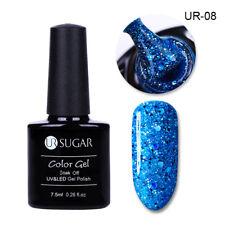 UR SUGAR 7.5ml Nail UV Gel Polish Soak Off Nail Art UV LED Gel Varnish Glitter