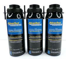 3-Pc Advantech Polyurethane Foam Cleaner For Pro Applicator Guns (3x 12-Oz Cans)