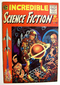 JOHNNY CRAIG FILE COPY INCREDIBLE SCIENCE FICTION #30 - WOOD - DAVIS ART 1955!