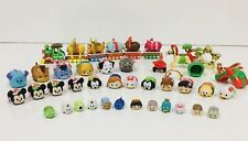 Disney Tsum Tsum Vinyl Figures Lot of 50+ pieces: Christmas Train & Accessories