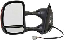 Ford F250 Door Mirror Super Duty Left Heated Telescopic Dorman 955-692 dual arm