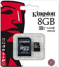 Kingston 8 GB, Class 10 (10MB/s) - MicroSDHC Card - (SDC10/8GB)