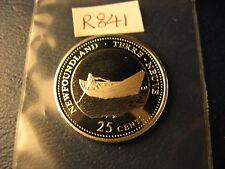 Canada 1992 Newfoundland Join Confederation Gem Silver 25 Cent Coin.