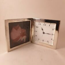 POTTERY BARN Silver Plated Frame and Alarm Clock