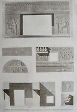 THEBES. MEDINEY – ABOU. (pl. 17, A. vol. II). Coupe du se...  DESCRIPTION EGYPTE